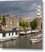 Oudeschans And Montelbaanstoren. Amsterdam. Netheralnds. Europe Metal Print
