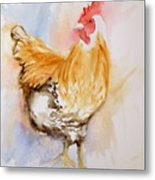 Our Buff Rooster  Metal Print