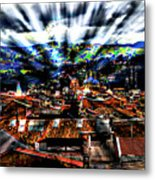 Our City In The Andes Metal Print