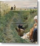 Our Daily Bread Anders Zorn Metal Print