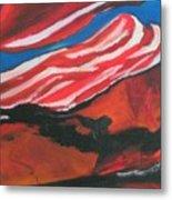 Our Flag Their Oil Metal Print