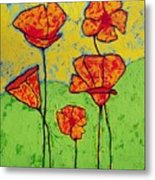 Our Golden Poppies Metal Print