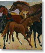 Our Horses Metal Print