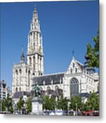 Our Lady Cathedral Antwerp Metal Print
