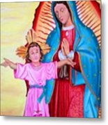 Our Lady Of Guadalupe And Child Metal Print