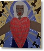 Our Lady Of Sorrows Metal Print by Angela Yarber