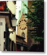 Our Ladys Minster Church In Zurich Switzerland Metal Print