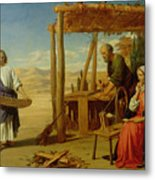 Our Saviour Subject To His Parents At Nazareth Metal Print by John Rogers Herbert