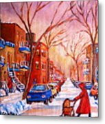 Out For A Walk With Mom Metal Print