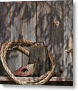 Out In The Barn Iv Metal Print by Tom Mc Nemar