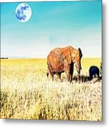 Out In The Serengeti Metal Print