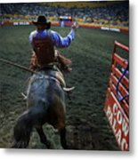 Out Of The Chute Metal Print