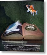 Out Of The Pond Metal Print