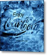 Out Of This World Coca Cola Blues Metal Print