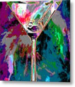 Out Of This World Martini Metal Print