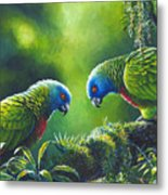 Out On A Limb - St. Lucia Parrots Metal Print