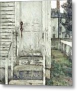 Out The Back Door Pencil Metal Print