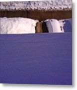 Out The Front Window In Winter Wc2 Metal Print