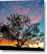 Outback Sunset Pano Metal Print