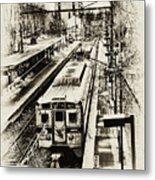 Outbound Train Metal Print