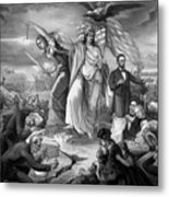 Outbreak Of Rebellion In The United States 1861 Metal Print
