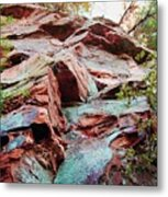 Outcrop At Wildcat Den Metal Print by Jame Hayes