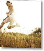 Outdoor Jogging II Metal Print