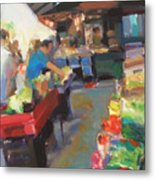 Outdoor Market Metal Print