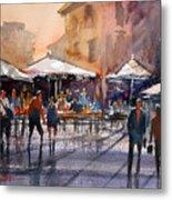Outdoor Market - Rome Metal Print