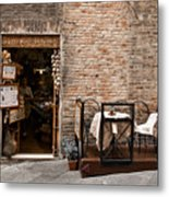 Outdoor Seating Available Metal Print