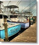 Outer Banks Fishing Boats Waiting Metal Print