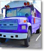Outer Banks University Bus 1 Metal Print