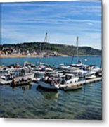 Outer Harbour - Lyme Regis Metal Print