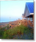 Outerbanks Sunrise At The Beach Metal Print