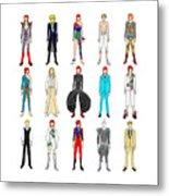 Outfits Of Bowie Metal Print