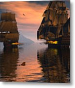 Outgunned Metal Print