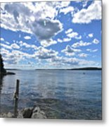 Outhaul On An Island In Casco Bay Maine  Metal Print