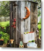 Outhouse In The Garden Metal Print