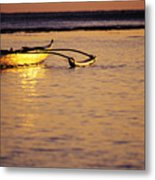 Outrigger And Sunset Metal Print by Joss - Printscapes