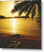 Outrigger At Sunset Metal Print