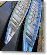 Outrigger Canoe Boats Metal Print