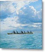 Outrigger Canoe Metal Print