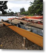 Outrigger Canoes Metal Print