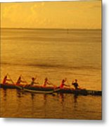 Outrigger In Tahiti Metal Print