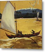 Outrigger Off Shore Metal Print