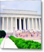 Outside The Lincoln Memorial Metal Print