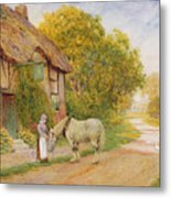Outside The Village Inn Metal Print