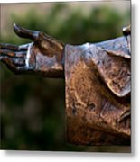 Outstretched Hand Metal Print