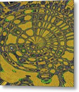 Oval Abstract Maple Leaf  Metal Print