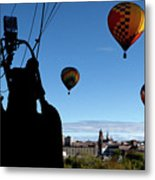 Over Auburn And Lewiston Hot Air Balloons Metal Print